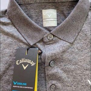 NWT Calloway Opti-Dry Grey Golf shirt Large